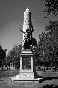 The Crispus Attucks Statue on Boston Common